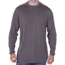 ExOfficio Exo Dri Long Sleeve Crew Heather Gray